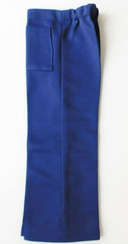 Vintage childrens trousers Age 5 year boy girl blue Crimplene UNUSED 1960s 1970s